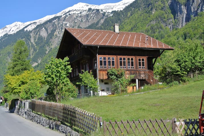 Great for holidays: Chalet with sauna and view