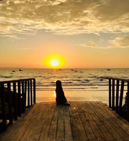 Casita de playa cálida y bien ubicada