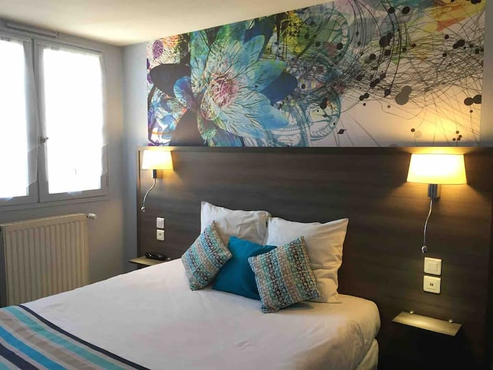 Chambre pour 1 ou 2 avec lit en 160