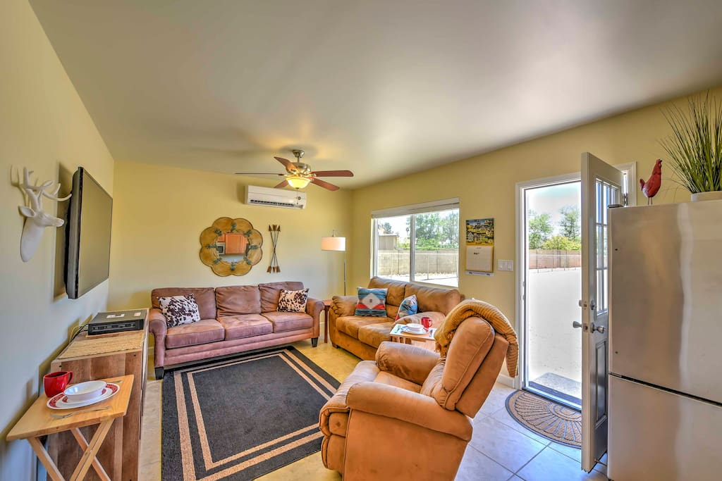 Step inside and relax in the welcoming living room.