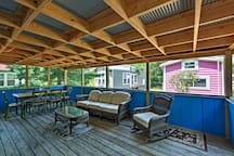 The porch is the perfect group gathering space!