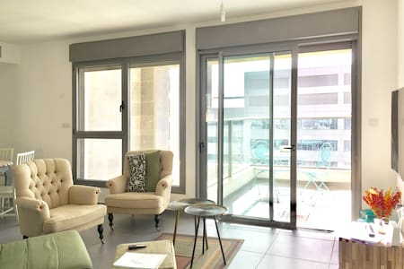 Beautiful 2 bdrm 2 bathroom apt in luxury building - Tel Aviv-Yafo