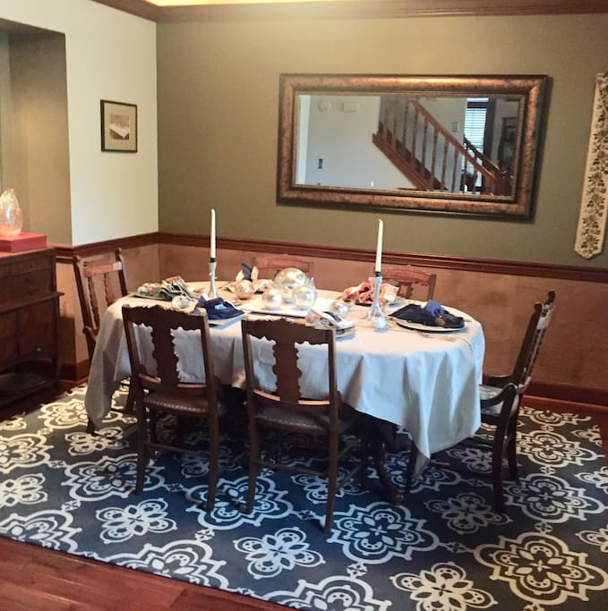 Dinning room for formal to casual gatherings.