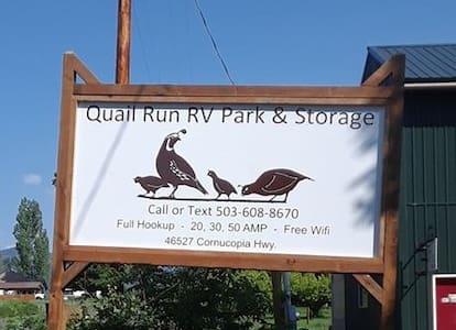 Quail Run RV Park in Rural Oregon