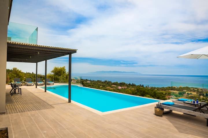 Colorvillas-Villa Blue with private pool-Trapezaki