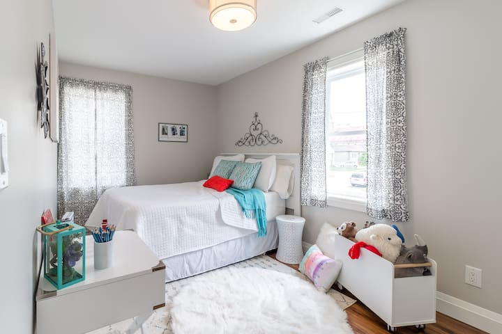 Guest room 2 - double bed; built in closets.