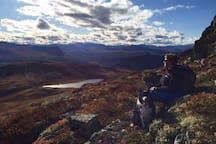 På Stålane med utsikt til Jotunheimen