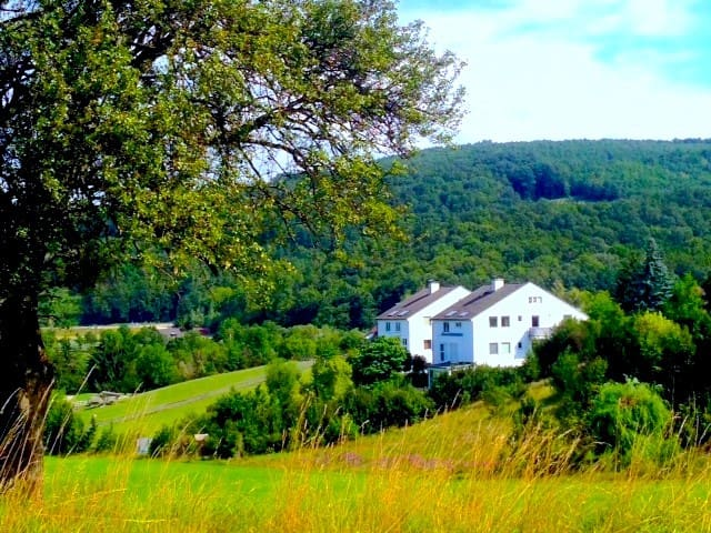From the surrounding hills you have a wonderful view at your new home.