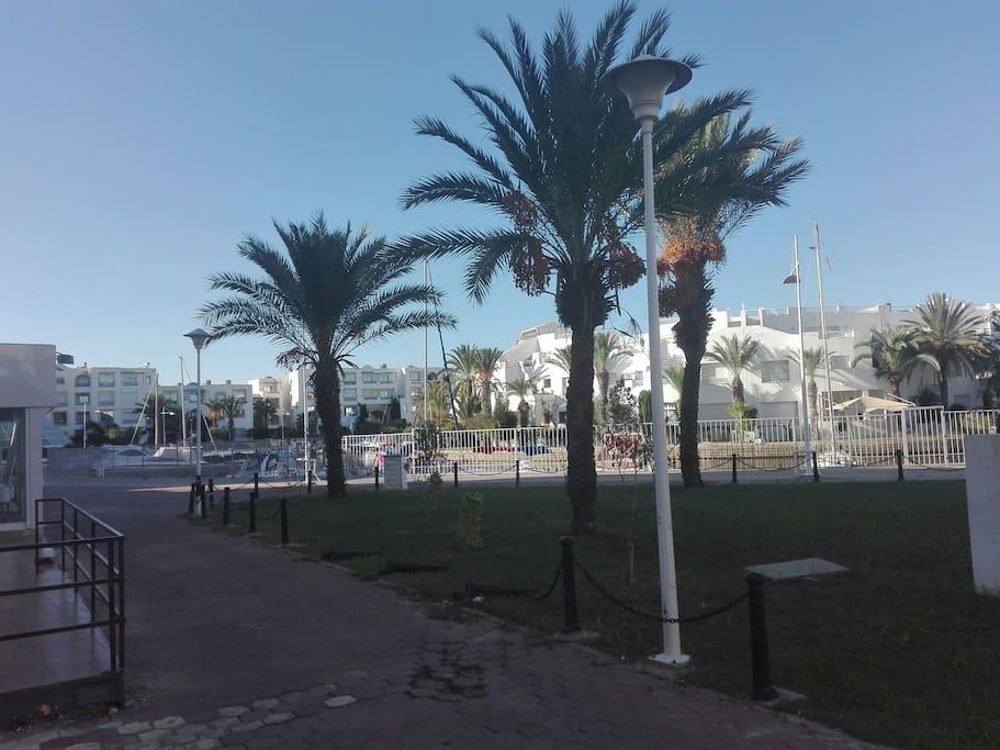 La belle plage de la résidence marina hammamet