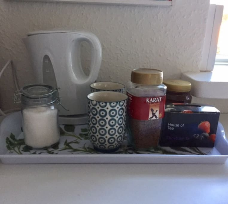 Free coffee and tea is available during your stay