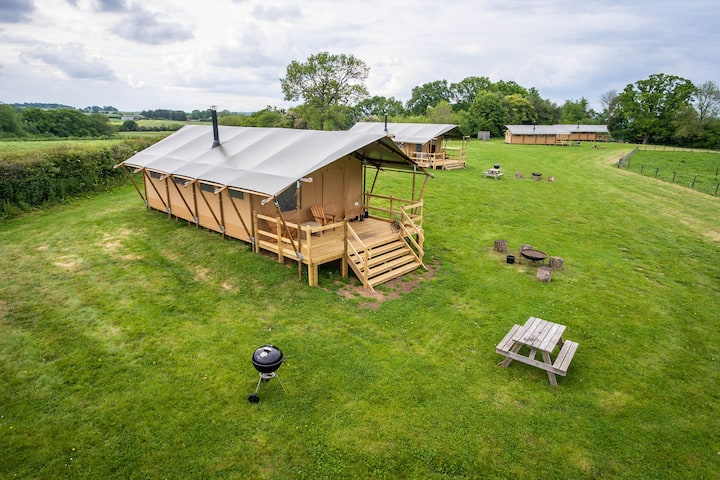 Glamping Tents at Gambledown Farm, Hampshire
