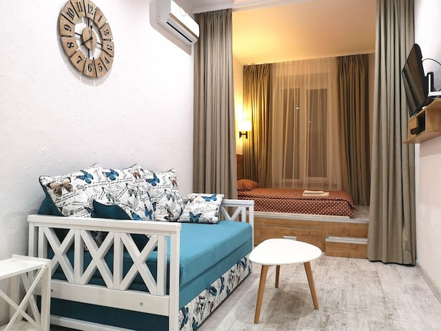 New and cozy apartment in the city center.