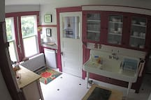Old time kitchen with everything you need.