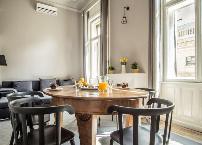 Lovely 2 bedroom apartment with Opera house view - Budapest - House