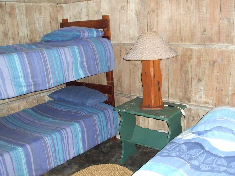 A 3 sleeper cabin, makes use of communal facilities