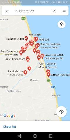 Outlets nelle vicinanze
