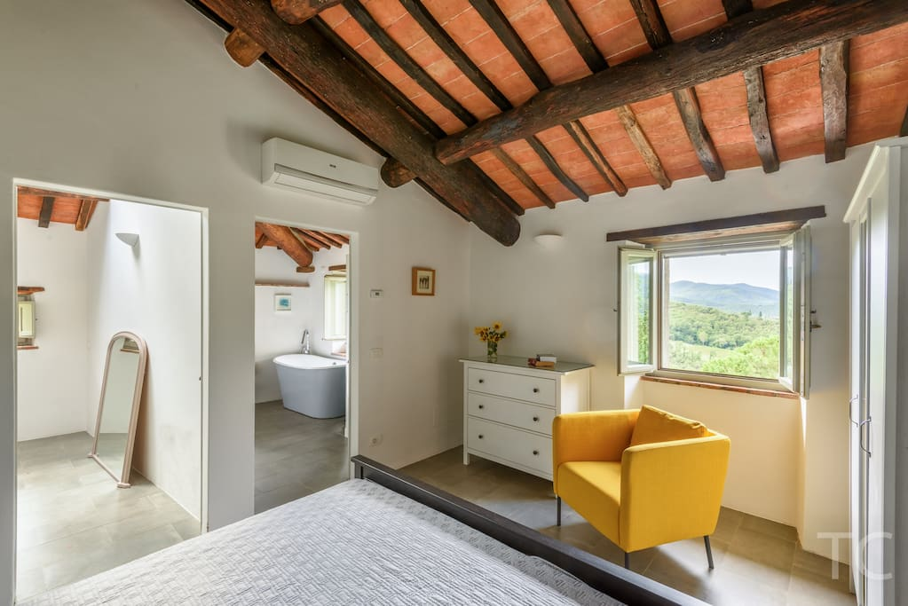 Large Master bedroom, with Ensuite bathroom,  lovely views