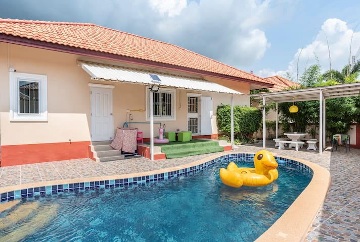 5min Cartoon Network☆Pool Villa 3BR◆.會說中文❤️