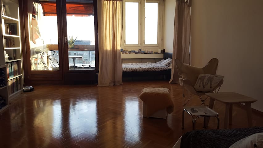 Bright and spacious loft in central Geneva. - Geneve - Huoneisto