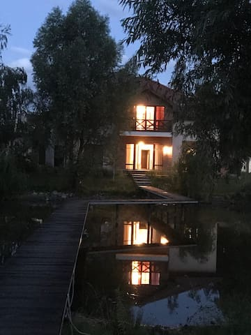Huge house with a lake