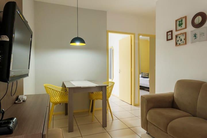 Apartamento perfeito para seu descanso.