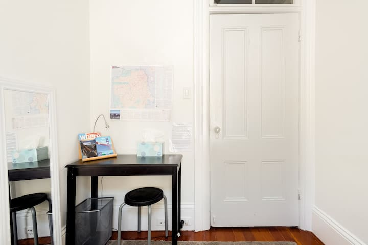 Small desk to plan your San Francisco adventure. We provide free guidebooks and information to help you plan!