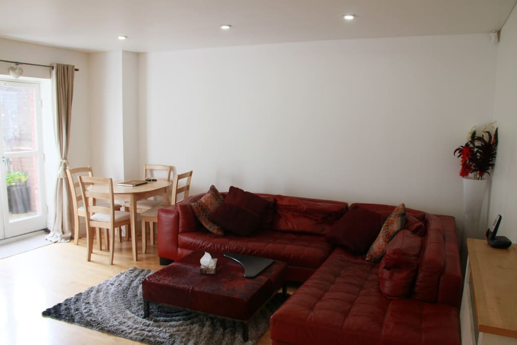 Living Room - Large Sofa and Dining Table