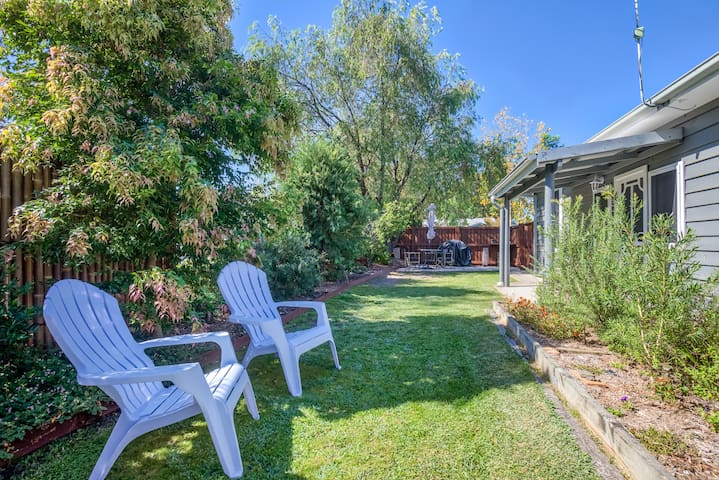 Enjoy some lazy times in a north-facing yard & garden