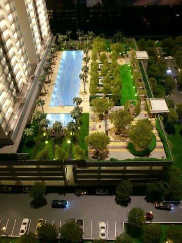 三间房,兩间浴室,游泳池,花園。 - Penampang - Apartamento
