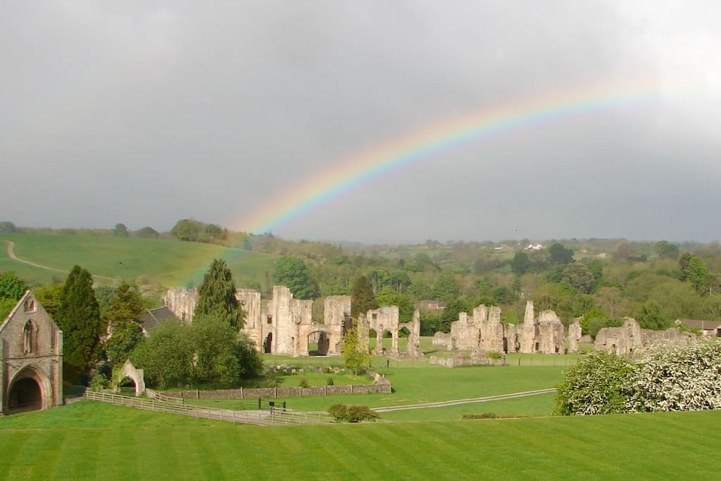 Easby Abbey from the garden