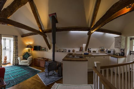 The Nest, thatched barn conversion near Lyme Regis
