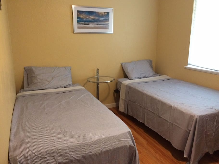 2 separate twin size beds