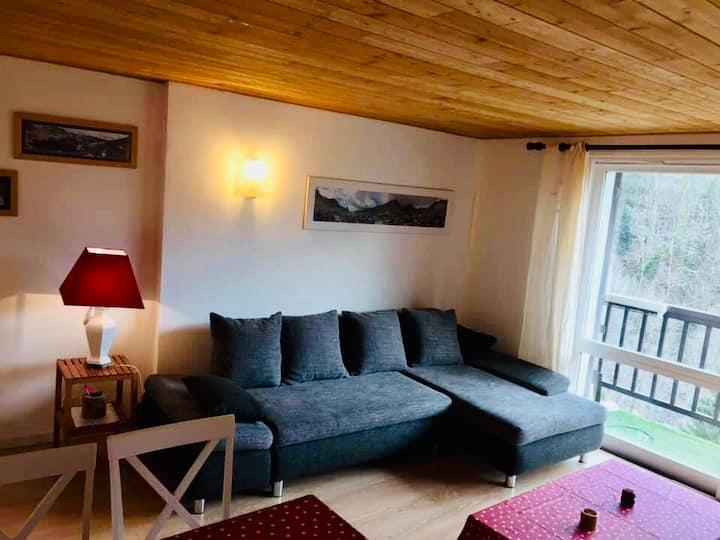 Magnifique appartement F2 avec balcon vue montagne
