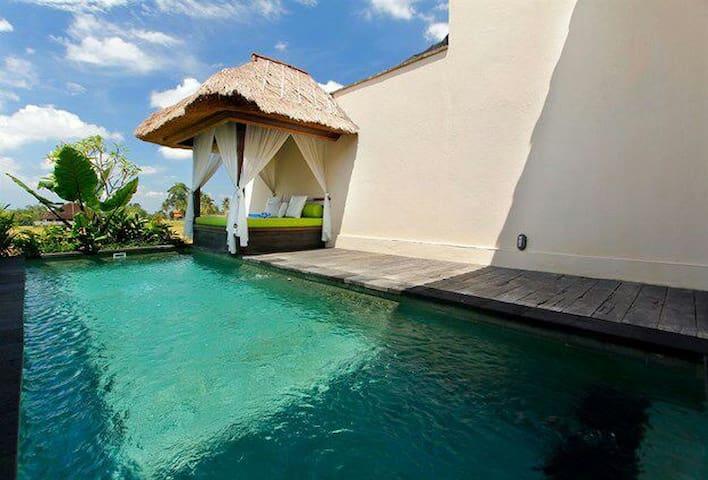 Amazing 1BR Private Pool Villa in Ubud Padi Field