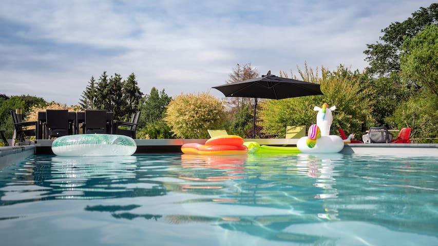 Au Cœur Mary : Appartement luxueux avec piscine