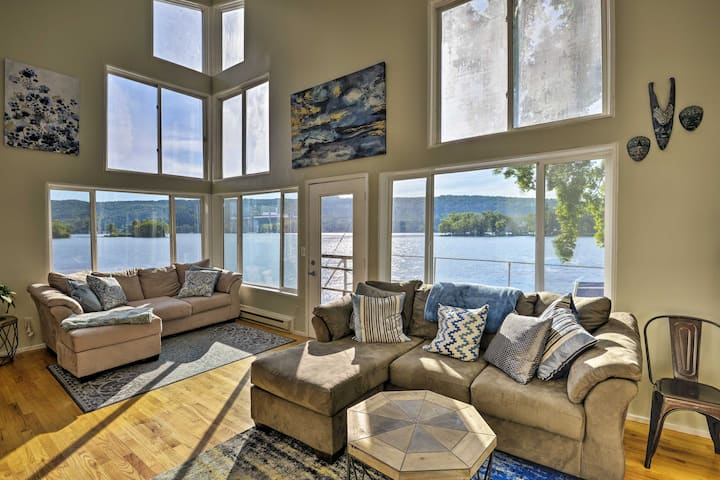 Waterfront DeRuyter Home w/ Private Dock!