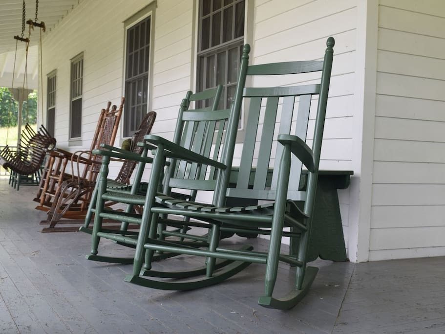 Rockers on the porch