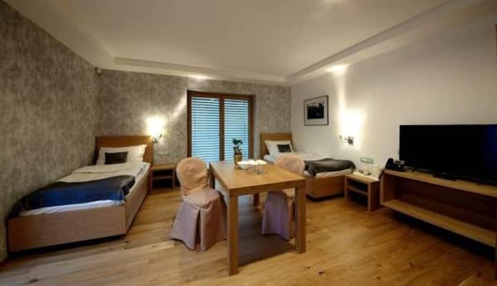 ☆Twin room at Pan Restaurant☆ w/AC, parking, Wi-Fi
