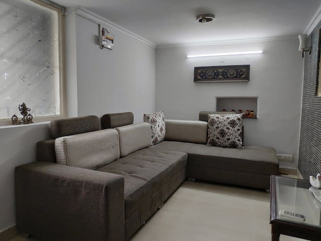 Living room with Sofa come Bed for third person Sleeping