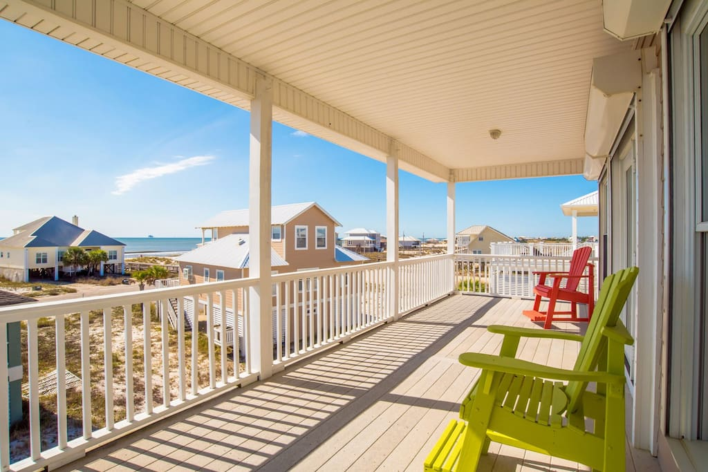 Two Oversized Decks with Beautiful Views Of The Gulf Waters