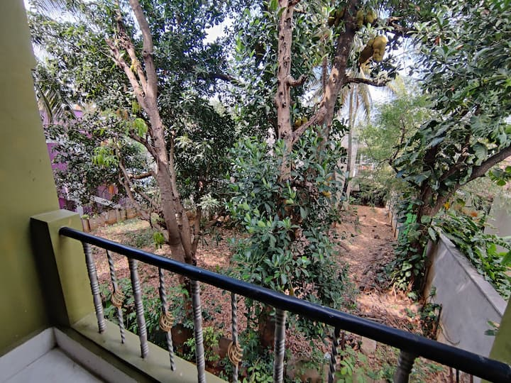 Private room with garden view Balcony