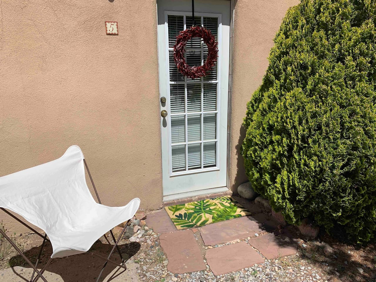 This is your private entrance! Yours is one of just seven units in this quiet courtyard building.
