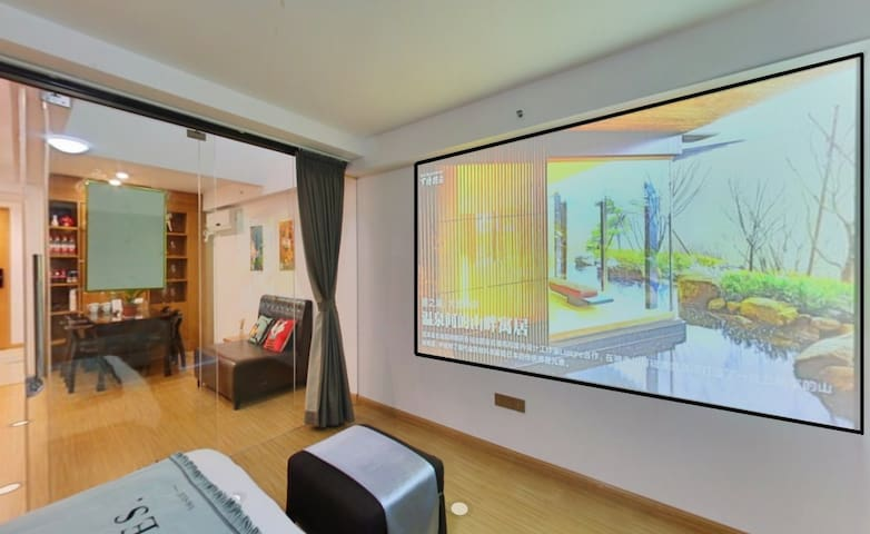 卧室1:一楼电影房1.5m*2m床