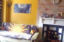 Shared sunny living room