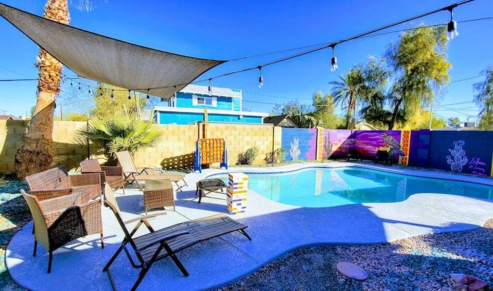 Phoenix Home w/renovated Pool & String Lights