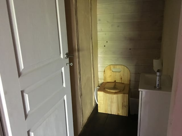 Downstairs dry toilet