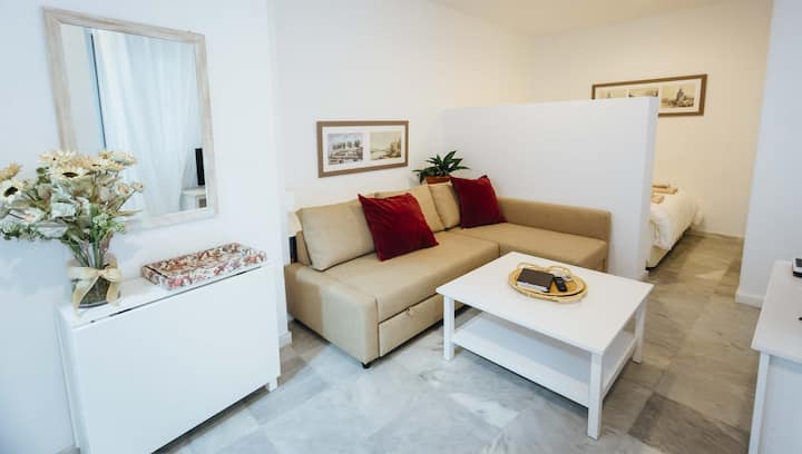 STUDIO 300 METERS AWAY FROM THE CATHEDRAL AC +WIFI