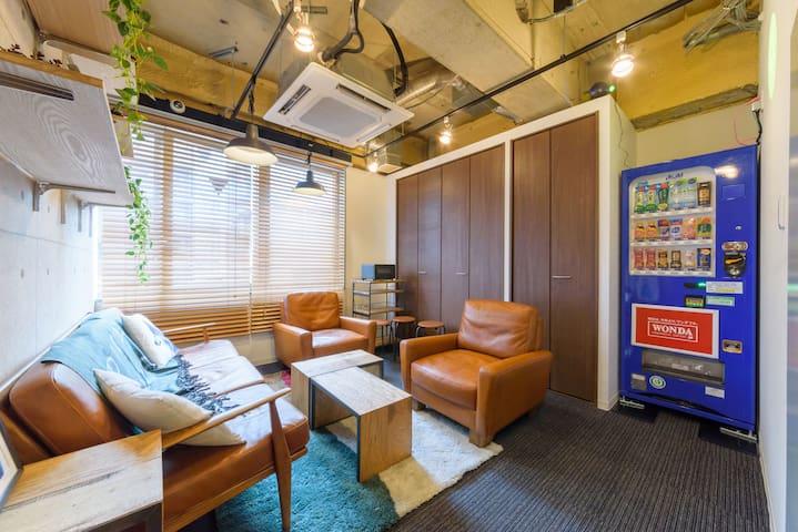 2.CENTRAL TOKYO, cozy dorm, good SAKE)
