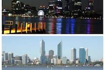 Perth City view from South Perth foreshore (5-10 mins drive)