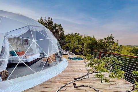 Sabi : Luxury Glamping in Treetop Dome + Dip Pool